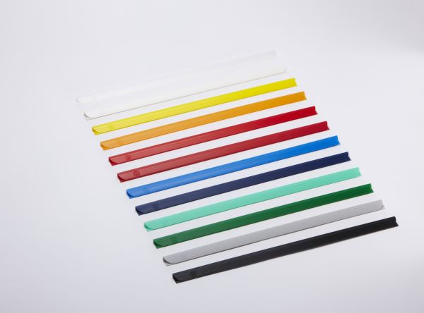 Environmentally-friendly spines for binding up to 30 loose sheets of paper (80g./m²) / holds up to - 4 mm